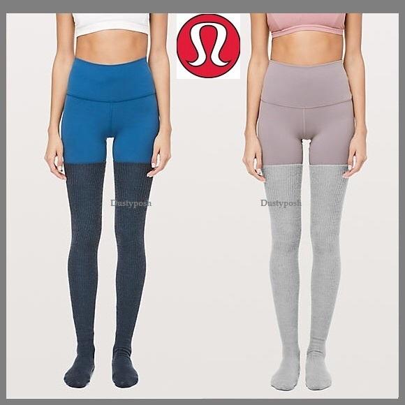 37dc3d17c Lululemon Over The Knee Socks Thigh High Grey Blue. NWT. lululemon athletica